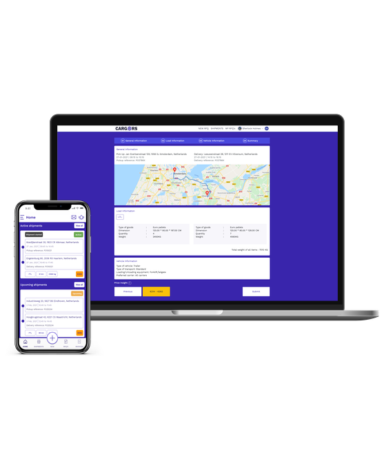 Cargors - Digital Road freight network - Request transport quotes
